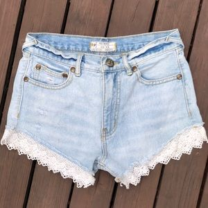 Free People High Waisted Jean Short